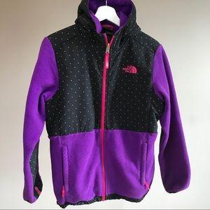 North Face Denali hoodie fleece jacket XL18 purple